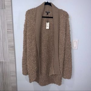 Express Taupe Shawl Cardigan in Small